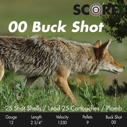Prairie Shot 00 Buck Shot 2 3/4 1350 fps  250 rds / case