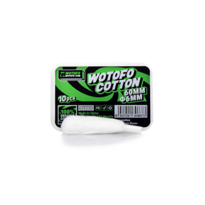 WOTOFO AGLETED ORGANIC COTTON - 60MM x 6MM