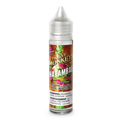 TWELVE MONKEYS - HARAMBAE - 60ml 0mg (CLEARANCE)