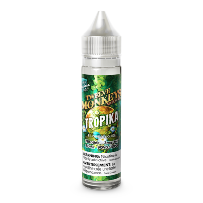 TWELVE MONKEYS - TROPIKA - 60ml 0mg (CLEARANCE)