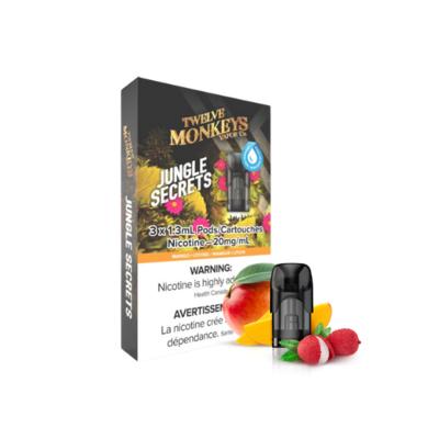 NIKKI PODS - 3 PACK - TWELVE MONKEYS JUNGLE SECRETS (CLEARANCE)