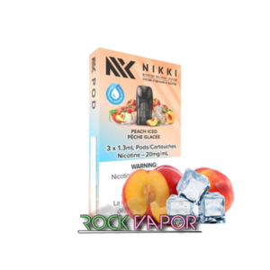 NIKKI PODS - 3 PACK - PEACH ICED