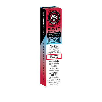 ENVI BOOST DISPOSABLE - STRAWBERRY ICED 20mg
