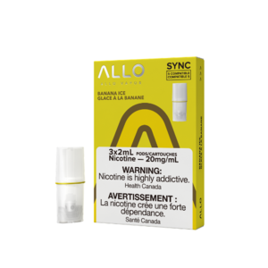 ALLO SYNC POD PACK - BANANA ICE - 3 PACK