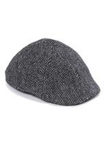 Crown Cap - Herringbone Paperboy Hat - 1-46690