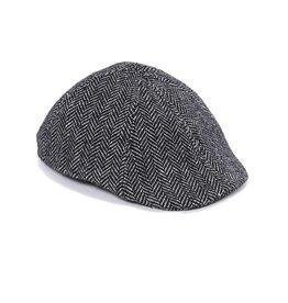 Crown Cap - Herringbone Paperboy Hat