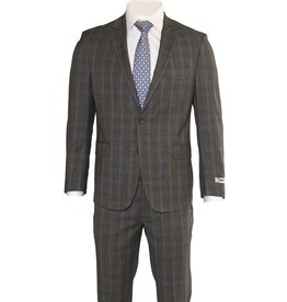 DKNY Slim Grey Glen Check Summer Suit