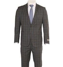 DKNY Slim Grey Glen Check Summer Suit