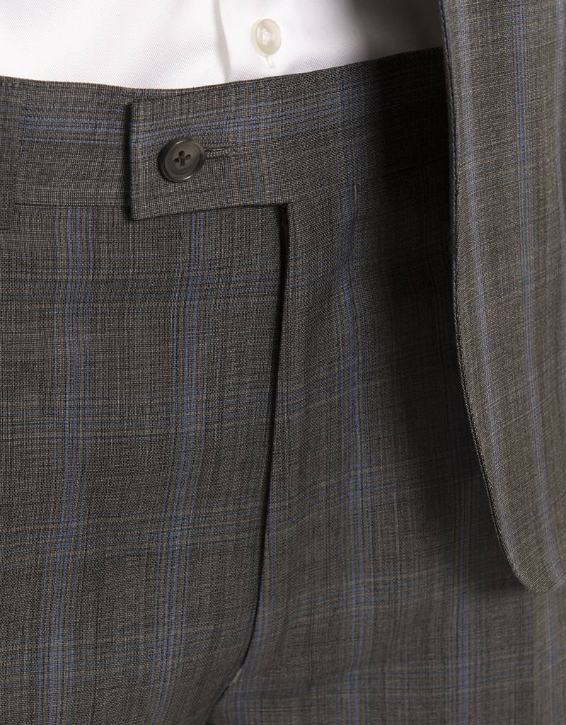 DKNY Slim Grey Glen Check Summer Suit (DEKA12Y1114)