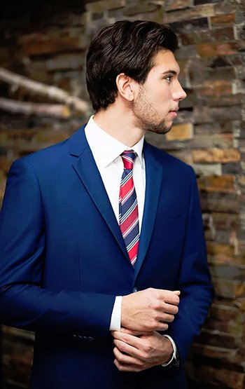 Wear A Blue Suits for Your Wedding!!