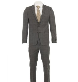L'HABIT L'HABIT - Slim Fit Grey Window Pane