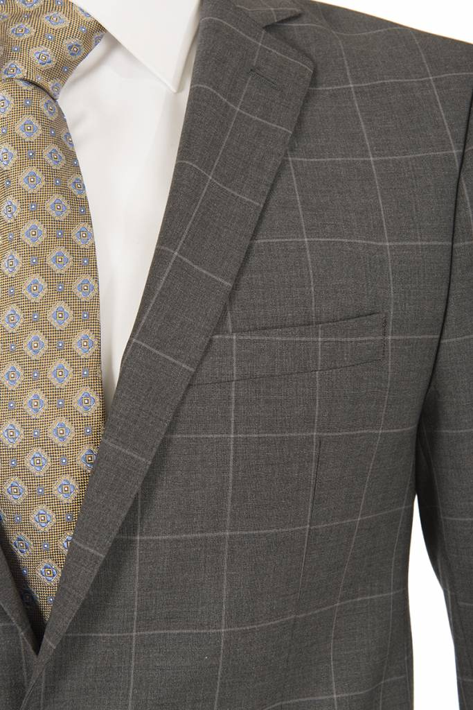 L'HABIT L'HABIT - Slim Fit Grey Window Pane (Z4626020054)
