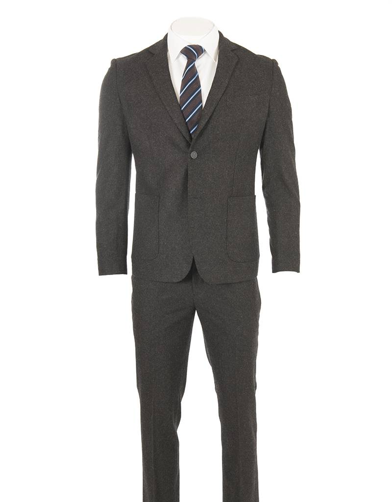 Delahaye London Collection Delahaye London Collection - Heavy Wool Charcoal Slim Suit (Hugo - 0922-7110)