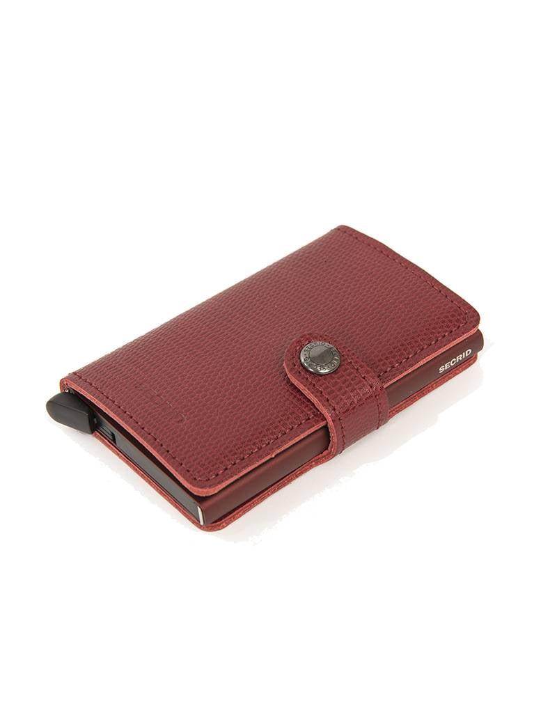 Secrid Secrid Leather Wallet in Bordeaux - M -