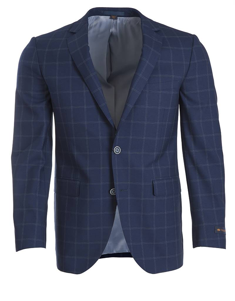 Paul Betenly Paul Betenly- Blue Window Pane Sport Jacket - C2RD71006