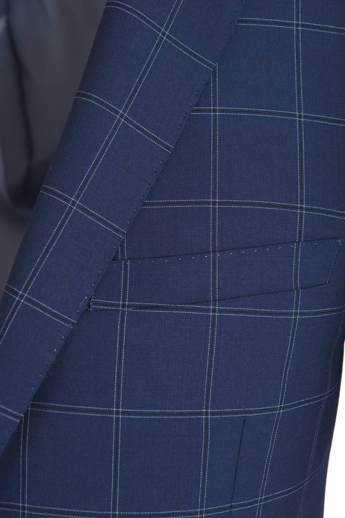 Paul Betenly Paul Betenly- Blue Window Pane Sport Jacket - C2RD71006