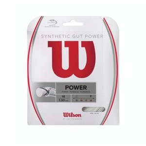 Wilson SYNTHETIC GUT POWER 16 - WHITE