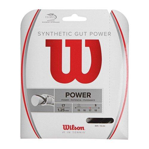 Wilson SYNTHETIC GUT POWER 17 - BLACK