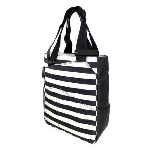 Maggie Mather Tennis Tote Black/Coconut