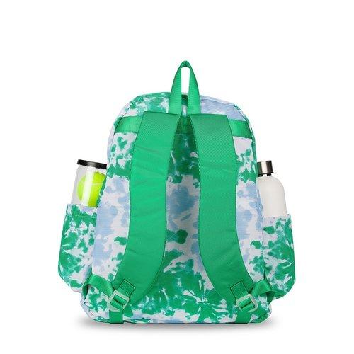 Game On Tennis Backpack Green/Blue Tie-Dye