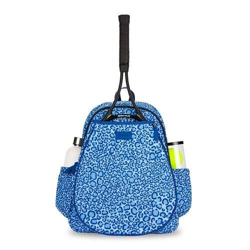 Game On Tennis Backpack Blue Leopard