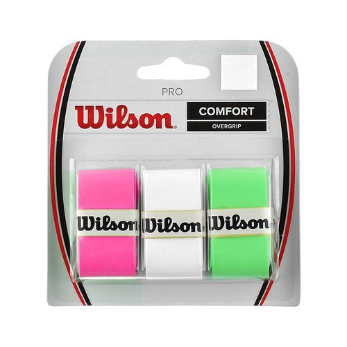 Wilson PRO OVERGRIP - MIX CARD(WHITE\PINK\GREEN)