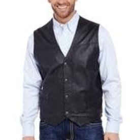 CRIPPLE CREEK CRIPPLE CREEK BLACK LEATHER VEST