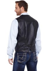 CRIPPLE CREEK CRIPPLE CREEK BLACK LEATHER SNAP FRONT VEST