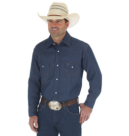 WRANGLER WRANGLER DENIM WESTERN WORK SHIRT BIG AND TALL