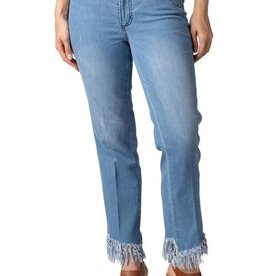 MULTIPLES MULTIPLES ANKLE JEAN WITH FRINGE HEM