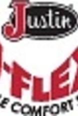 JUSTIN JUSTIN  5008 PALUXY BROWN ROUND TOE CREPE
