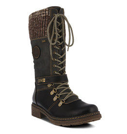 SPRING FOOTWEAR ABABI LACE UP MID CALF BOOT