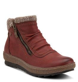 SPRING FOOTWEAR CLEORA RED BOOTIE