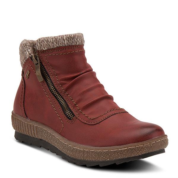 SPRING FOOTWEAR CLEORA RED BOOTIE BY SPRINGSTEP