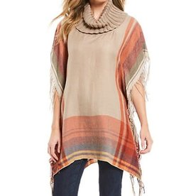 MULTIPLES COWL NECK PANCHO