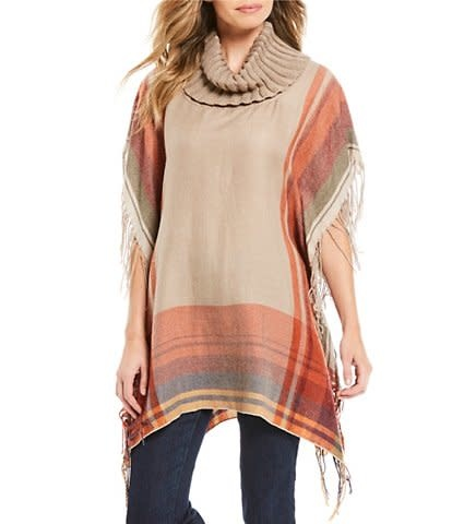 MULTIPLES COWL NECK PANCHO BY MULTIPLES