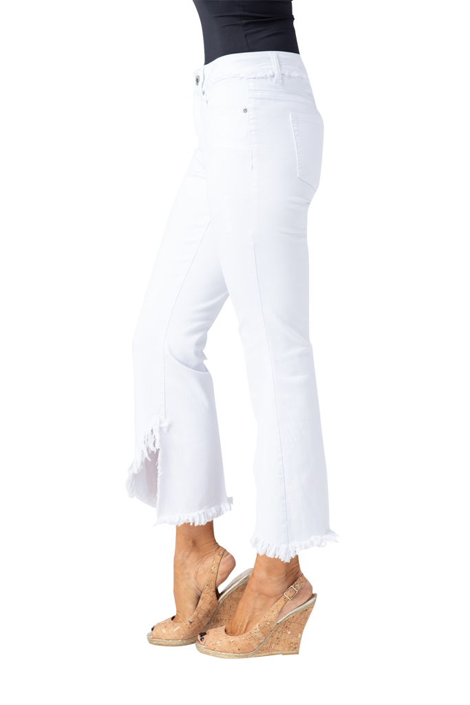 MULTIPLES MULTIPLES FLARE LEG WHITE DENIM JEAN