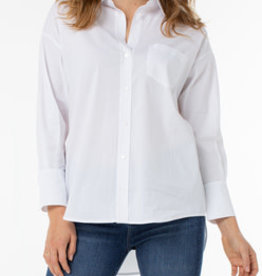 LIVERPOOL OVERSIZE CLASSIC WHITE BLOUSE