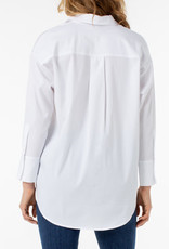 LIVERPOOL LIVERPOOL OVERSIZE CLASSIC  WHITE BLOUSE