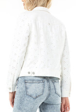 LIVERPOOL LIVERPOOL WHITE EYELET JEAN JACKET