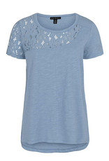 TRIBAL TRIBAL TEE WITH LACE INSET