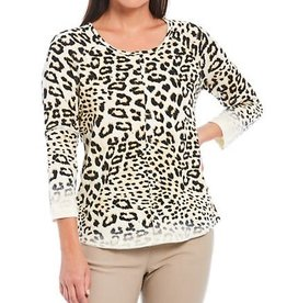 MULTIPLES MULTIPLES ANIMAL PRINT TOP