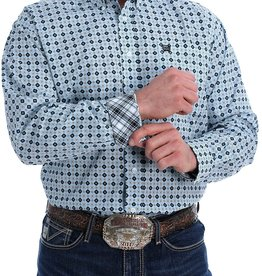 CINCH CINCH LONG SLEEVE SHIRT LT BLUE GEO PRINT