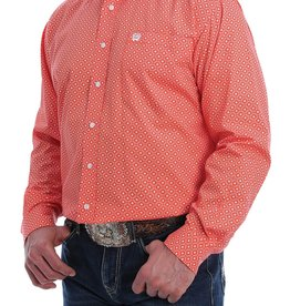 CINCH CINCH LONG SLEEVE SHIRT ORANGE PRINT
