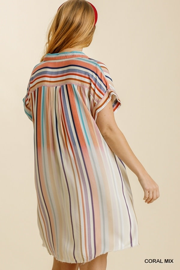 UMGEE UMGEE STRIPE SHIRT DRESS