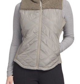 TRIBAL TRIBAL QUILTED VEST W/SHERPA YOKE (2 COLORS)