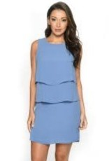 ISLE ISLE LAYERED SLEEVELESS DRESS