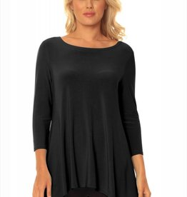 ALISHA D SCOOP NECK HI/LO TRAVEL TUNIC(MORE COLORS)