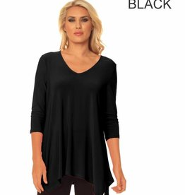 ALISHA D V-NECK TRAVEL TUNIC (MULTIPLE COLORS)