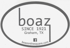 Boaz on The Square Graham Texas family owned and operated since 1921 provides quality apparel, footwear and gifts for both men and women at competitive pricing.